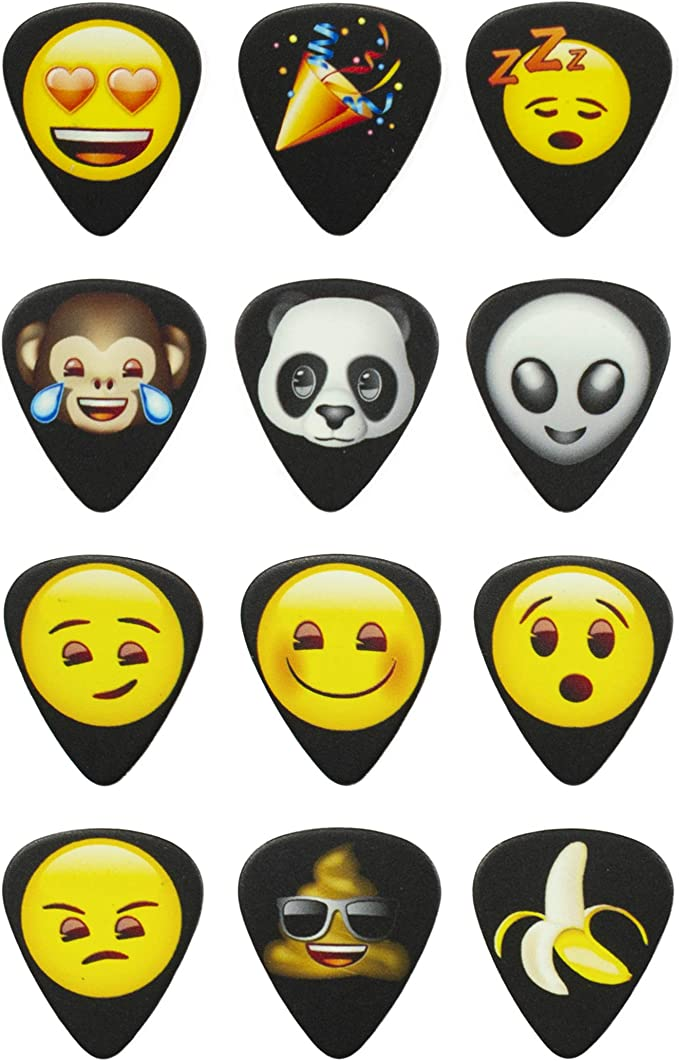 Perris Leathers LP12-EMO6 emoji Guitar Picks, Iconic
