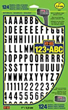 """Hy-Ko Products MM-6 Self Adhesive Vinyl Numbers and Letters 1"""" High, Black & White, 124 Pieces"""