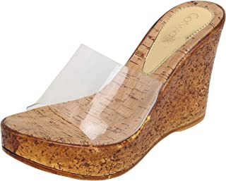 Catwalk Women's Beige Wedge Sandals Fashion