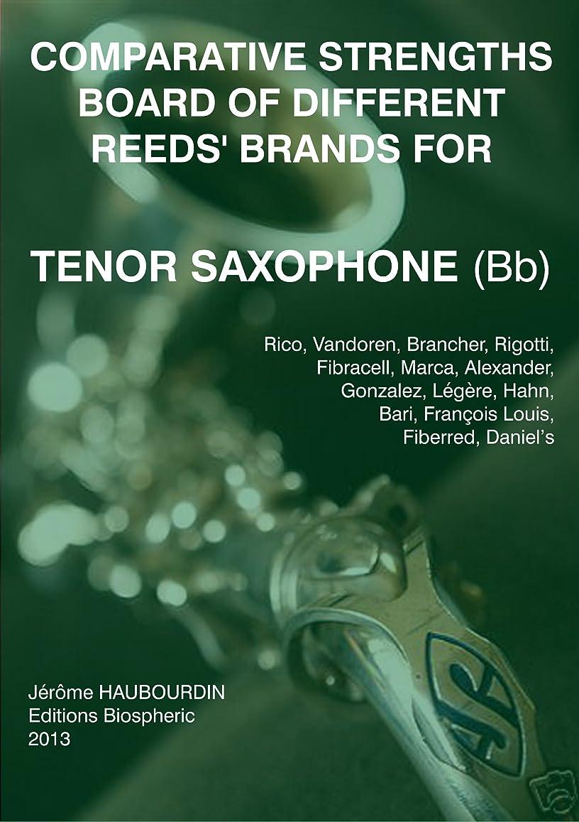 ドリンク乱すしないComparative strengths board of different reeds' brands for Tenor Saxophone (Bb) (English Edition)