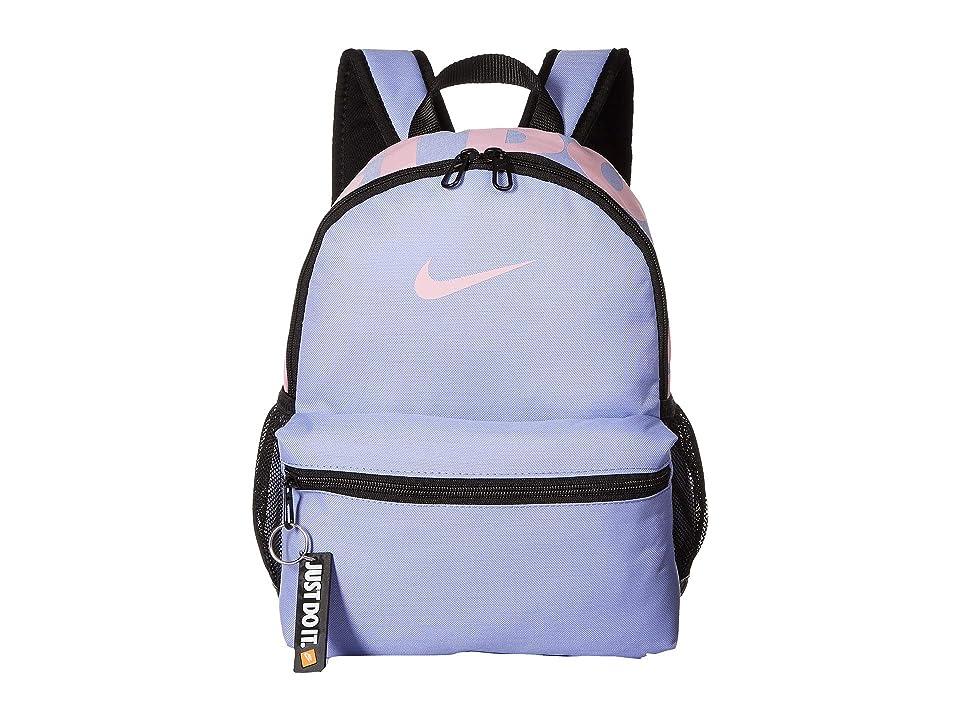 Nike Kids Brasilia JDI Mini Backpack (Little Kids/Big Kids) (Twilight Pulse/Black/Light Arctic Pink) Backpack Bags