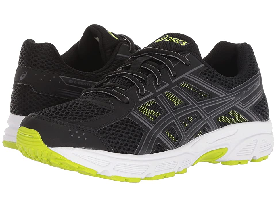 ASICS Kids GEL-Contend 4 GS (Big Kid) (Black/Neon Lime) Boys Shoes