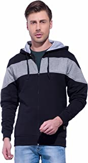 Alan Jones Full Sleeve Solid Men's Hooded Sweatshirt