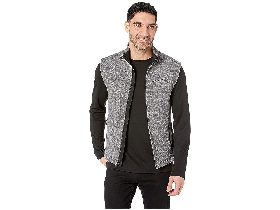 Spyder Encore Core Sweater Vest (Ebony Grey) Men
