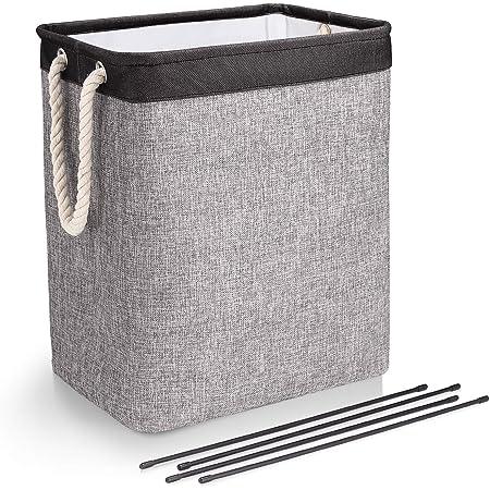 Foldable Canvas Basket Laundry Storage Baskets with Handles Storage Organization