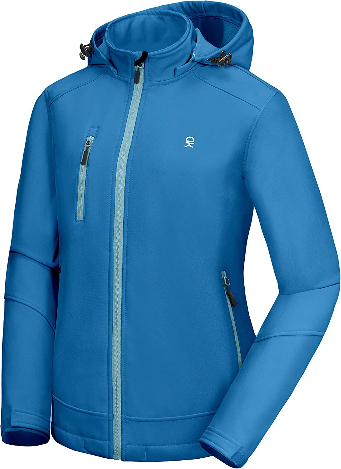 Max 64% OFF Little Donkey Andy Women's Nashville-Davidson Mall Softshell with Hood Jacket Removable