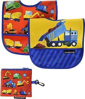 Crocodile Creek Construction Zone Bib Set (3 Piece), Red, Blue, Yellow, Orange