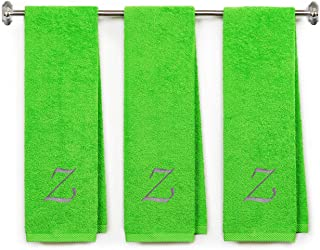 BY LORA Embroidered Terry Cotton Gym Fitness Towel for Men, Women, Girls, Boys - Personalized Gift - 13 x 44 inches - 3-Pa...