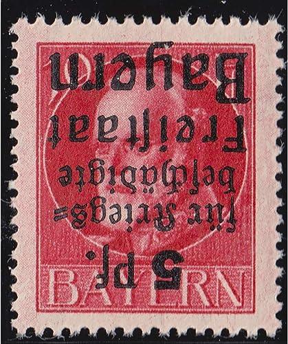 Goldhahn Bayern Nr. 171 A K postfrisch  Kopfstehender Aufdruck Briefmarken für Sammler