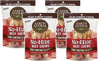 Earth Animal No Hide Beef Chews, 4 Inches, Rawhide Alternative Dog Treats