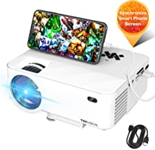 Mini Projector, TOPVISION Video Projector with Synchronize Smart Phone Screen, 1080P Supported, 176