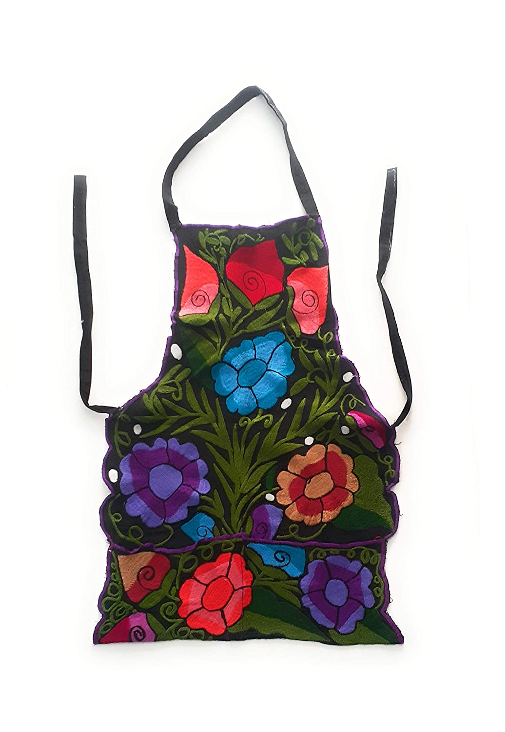 Mexican Apron Oaxacan Reservation flower from Me embroidered Max 77% OFF handmade
