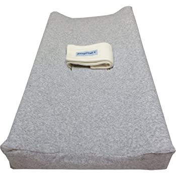 PooPoose Changing Pad Cover (Varsity Grey)