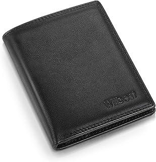 wilbest® Portafoglio Uomo Pelle Rfid Blocking con Tasca Portamonete, tasca con zip,3 Scomparti Banconote,13 Porta Carte di...