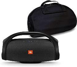 JBL Boombox Portable Bluetooth Waterproof Speaker Bundle with Hardshell Storage Case - Black