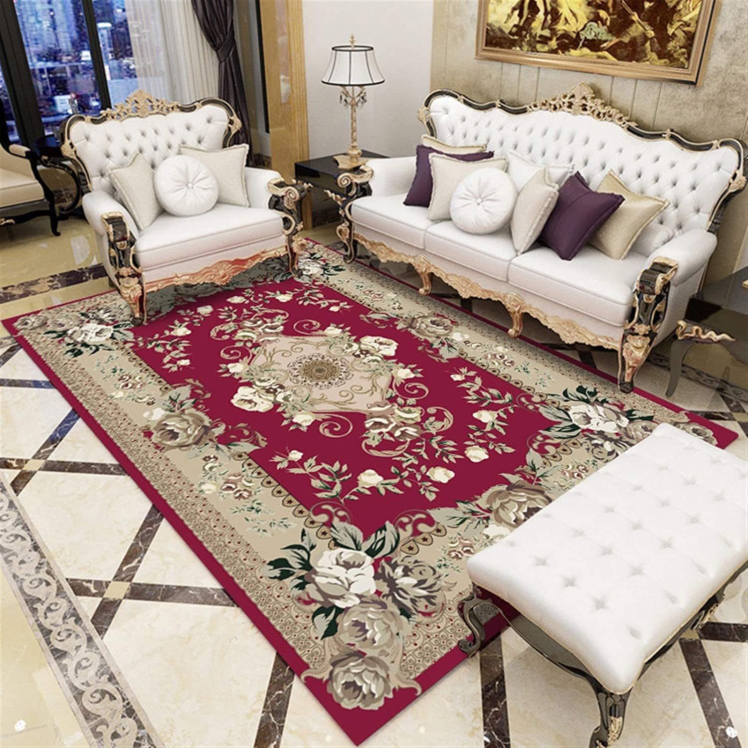 LINFENG Retro Popular Charlotte Mall shop is the lowest price challenge Carpet Multifunctional Household Non-Slip f
