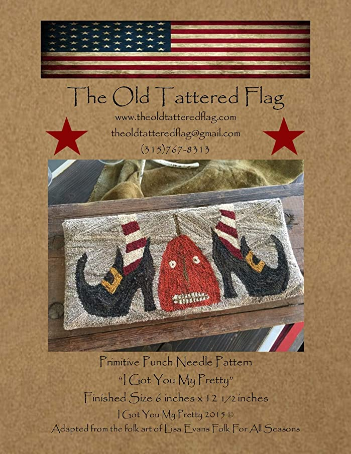 The Old Tattered Flag OTF1663 I Got You My Pretty Punch Needle Pattern