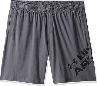 Under Armour Men's Sportstyle Cotton Wordmark Logo Sho Shorts, Grey (Pitch Grey/Black), 2X-Large