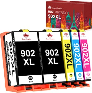 Toner Kingdom Compatible Ink Cartridges Replacement for HP 902XL 902 XL with The Newest Chipsfor Hp OfficeJet Pro 6958 6962 6968 6978 6970 Printers (5 Packs)
