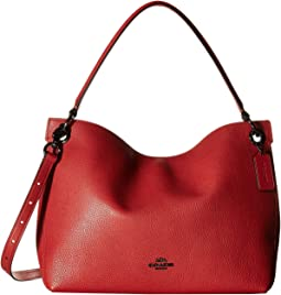 COACH - Polished Pebble Leather Clarkson Hobo