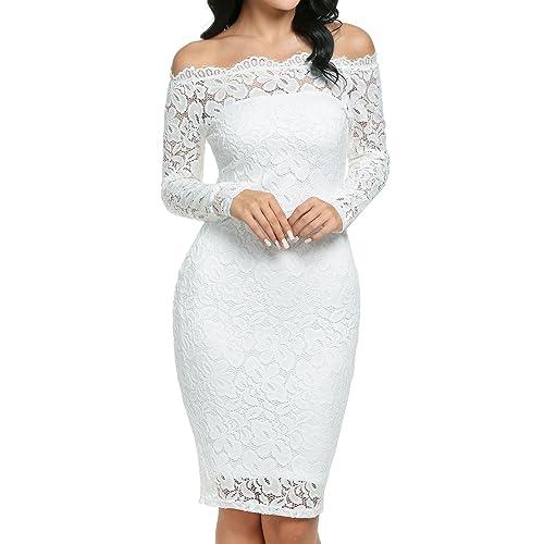 c8d37defbaf6 Vestido Blanco de Lápiz: Amazon.es