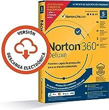 Norton 360 Deluxe 2021 - Antivirus software para 5 Dispositivos y 15 meses de suscripción con renovación automática, Secur...