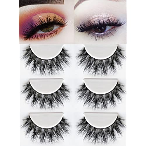 1ac3811e248 3D Mink Fake Eyelashes -100% Siberian Mink Fur Hand-made False Eyelashes  Dramatic
