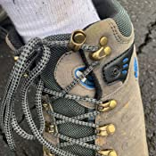 3C Camel HUAYU 5696 Mens Walking Hiking Trail Waterproof Ventilated Mid High-Cut Gray Boots