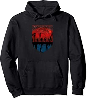 Stranger Things Group Shot Mindflayer Trail Silhouettes Sweat à Capuche