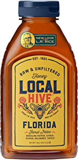 L.R. Rice 100% Pure Honey Raw & Unfiltered, Local Florida, 16oz