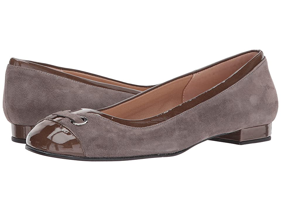 French Sole Zipper (Taupe Suede/Patent) Women