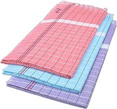 Sathiyas Sunrise Cotton Bath Towel 3 Pcs Combo (Red, Lavender, Blue)