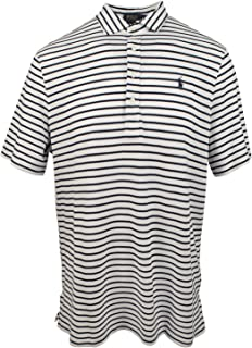 Men's Feather Weight Mesh Classic Fit Striped Polo Shirt