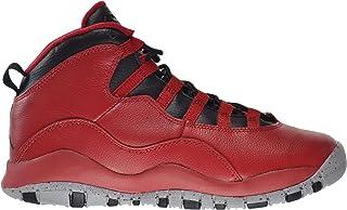 Jordan Air 10 Retro 30th BG Bulls Over Broadway Big Kids Shoes Gym Red/Black-Wolf Grey 705179-601
