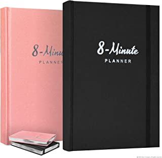 8 Minute Planner by Abra Company   Tested and Proven to Increase Productivity and Happiness   Undated A5 daily planner wit...