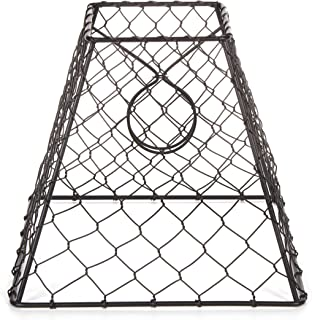 Darice Clip-On Chicken Wire Lamp Shade: Square, Black, 8 x 8 inches