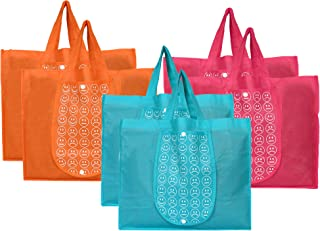 Kuber Industries Shopping Grocery Bags Foldable, Washable Grocery Tote Bag with One Small Pocket, Eco-Friendly Purse Bag F...