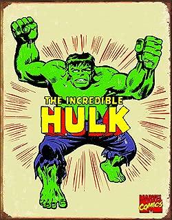 Desperate Enterprises Marvel Comics The Incredible Hulk Retro Tin Sign, 12.5