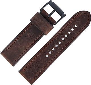 Fossil JR-1487 - Cinturino per orologio, in pelle, larghezza 24 mm, marrone