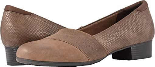 Dark Taupe Casual Leather/Snake