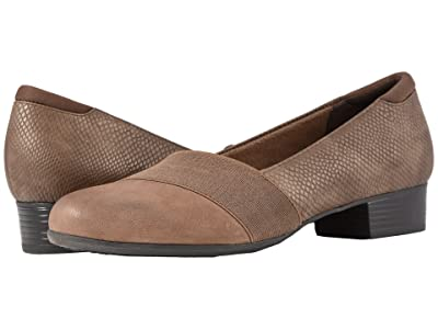 Trotters Melinda (Dark Taupe Casual Leather/Snake) Women