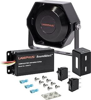 LAMPHUS SoundAlert SAAH75 SASP03 100W Electronic Air Horn Kit for Trucks Cars (118-124dB Slim Speaker)