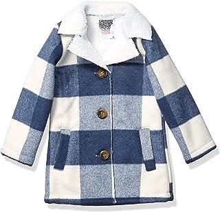 Kensie - Girl's Outerwear Girls' Little Plaid Wool Sherpa Jacket