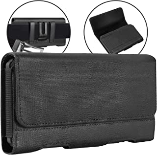 BECPLT Galaxy Note 20 5G Note 10 Holster Case ,Nylon Belt Clip Case Cell Phone Carrying Pouch Holder Belt Holster Sleeve f...