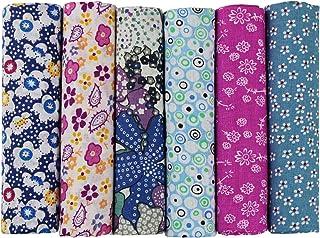 aufodara 6 PZ 50 x 50 cm tessuto pacchetti Patchwork Stoffe panno di cotone fai da te per cucire Quilting Tessuto Cotone V...