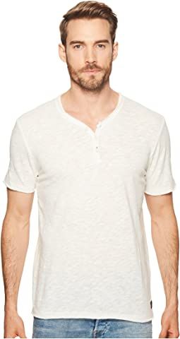 Raw Edge Y-Neck Henley Shirt