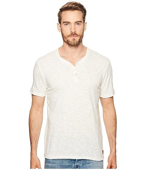 lucky brand raw edge y-neck henley shirt