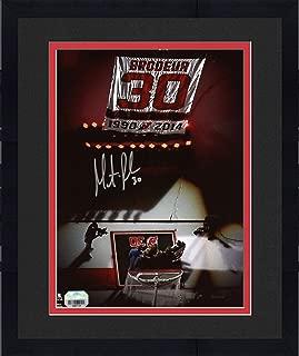 Framed Martin Brodeur New Jersey Devils Autographed 8
