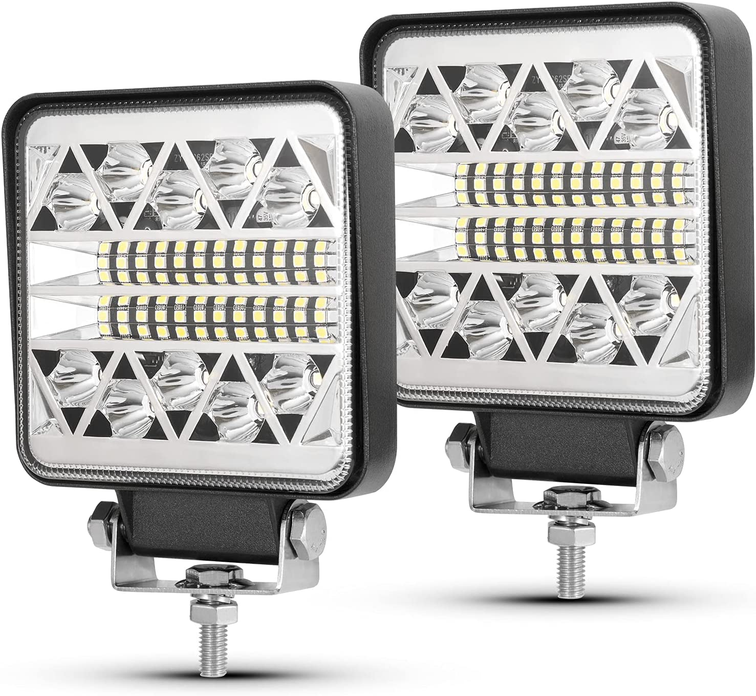 BUNKER INDUST 4 Inch LED Light Pods Max 60% OFF Work Li Max 74% OFF Tractor Pcs 2 Square