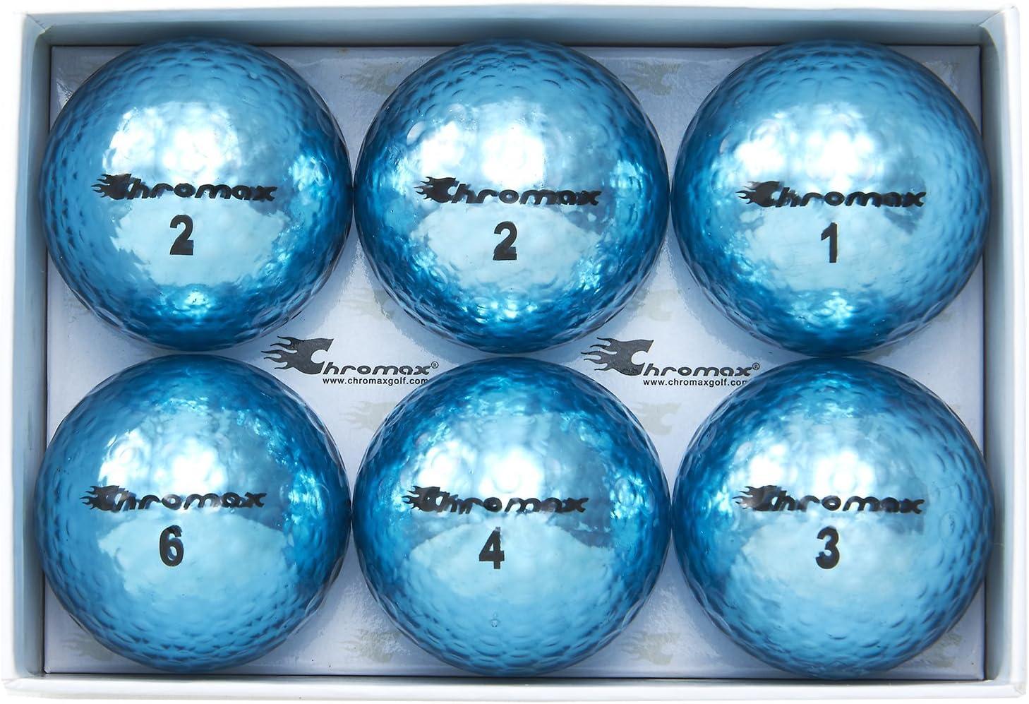 Chromax Metallic M5 Colored Golf Balls